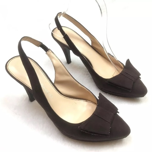 5047485698e MARC FISHER Platform Heels VEGAN Suede Sling Back.  M 5b1f0dc5df03070e6aa67c82. Other Shoes ...